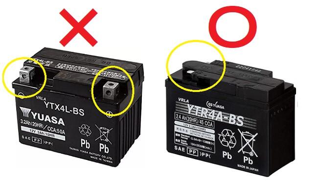 バイク用密閉型バッテリーの種類