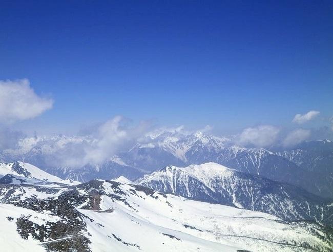 乗鞍岳頂上からの眺め~北アルプス