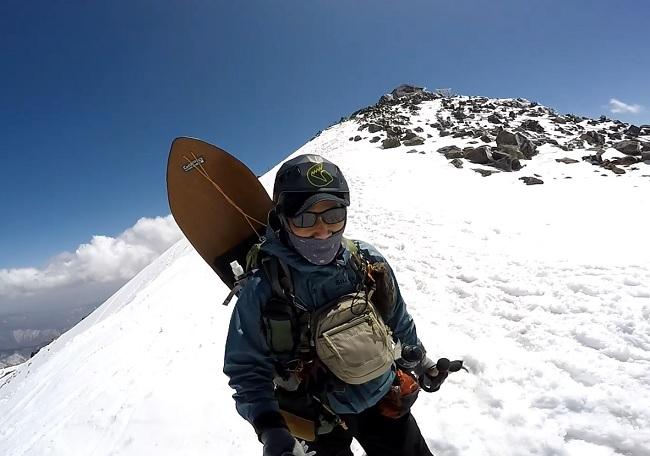 乗鞍岳頂上より下山開始