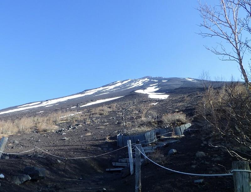 富士宮口五合目から見た富士山