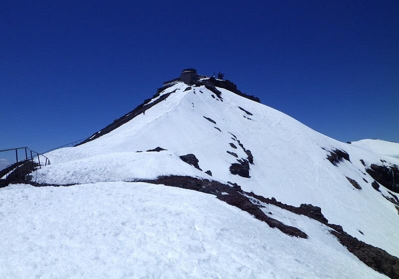 残雪期の富士山剣ヶ峰