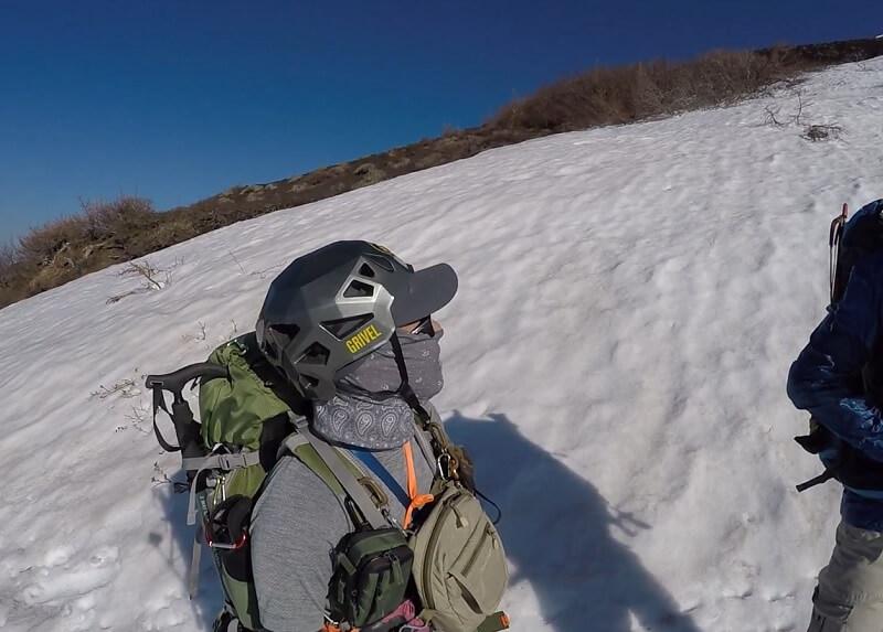 富士宮ルート五合目の積雪状況5月