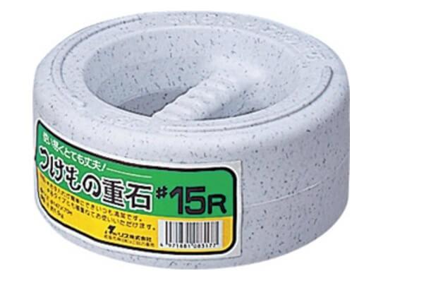 アンカーの代用 漬物石