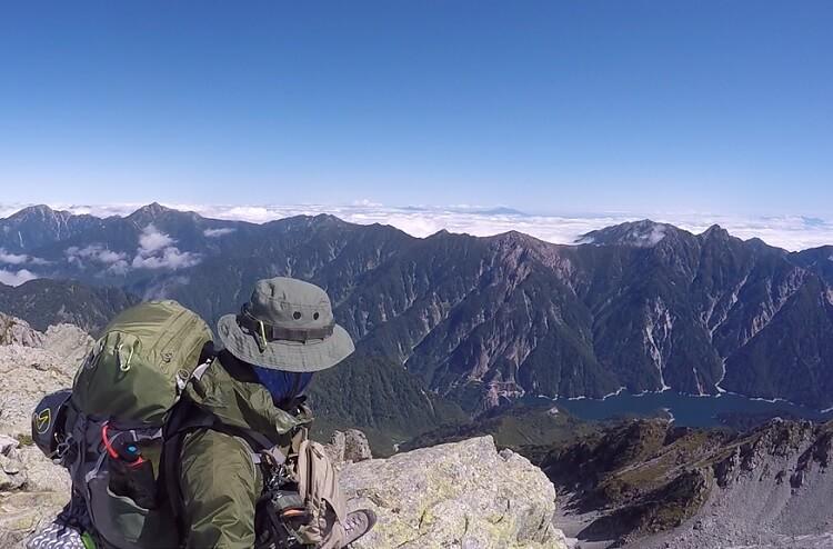 立山 大汝山からの眺望 黒部ダム・黒部湖