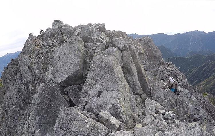 剱岳 頂上付近の岩稜帯