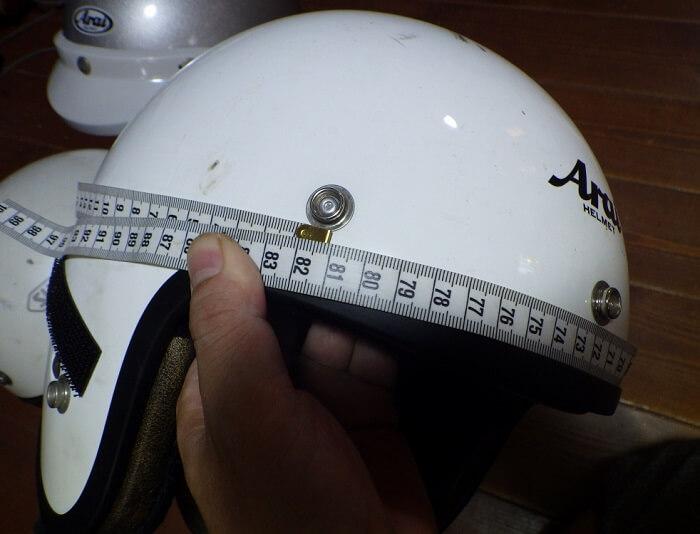 アライ クラシックSW 帽体の大きさ