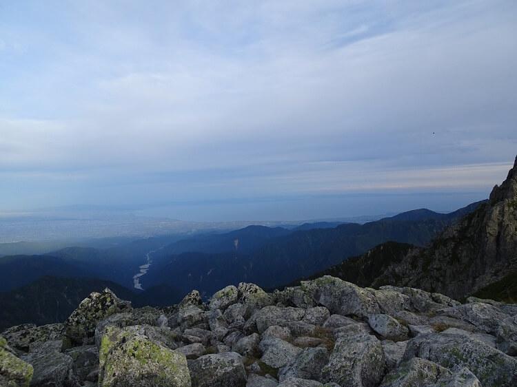 前剱からの眺望 富山湾