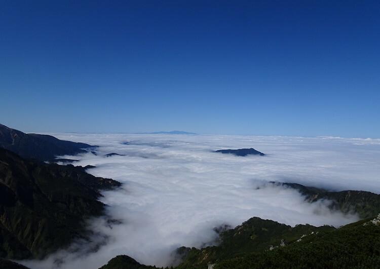立山 浄土山から見下ろす雲海