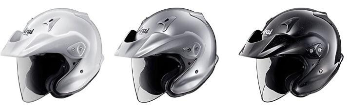 バイザー一体型ジェットヘルメット