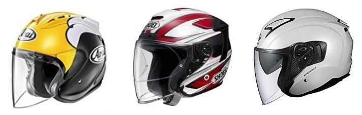 シールド付きジェットヘルメット