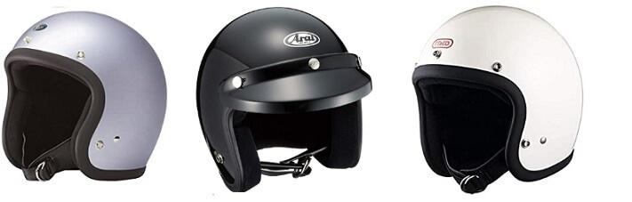 オープンフェイス型のジェットヘルメット