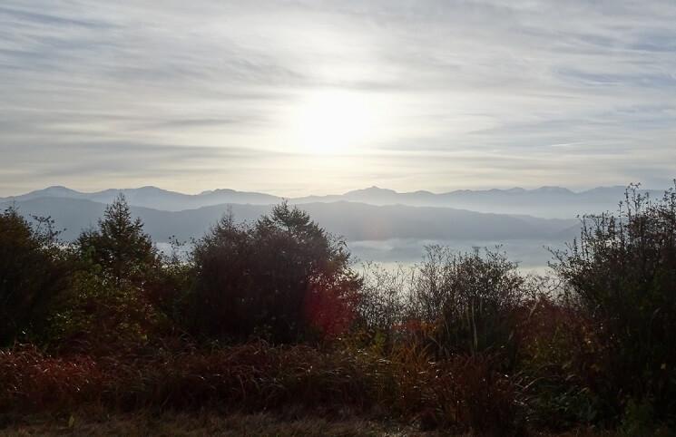 陣馬形山からの景色・展望~日本アルプス