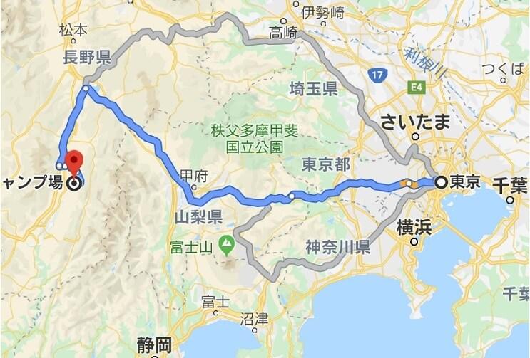 陣馬形山へのアクセス 東京方面から