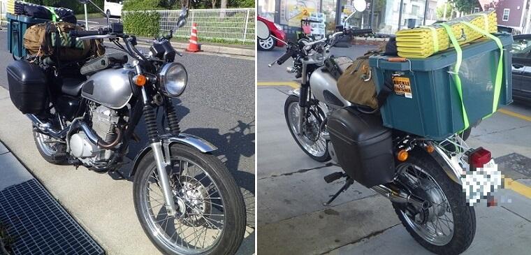 キャンプツーリング バイクへの積載