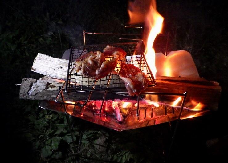 ピコグリル398スピットを使って焼肉