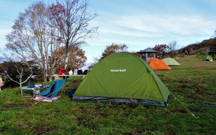 陣馬形山キャンプ場 テント