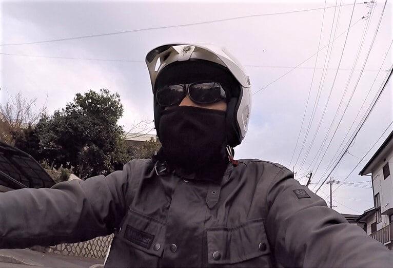 防寒フェイスマスク バイク