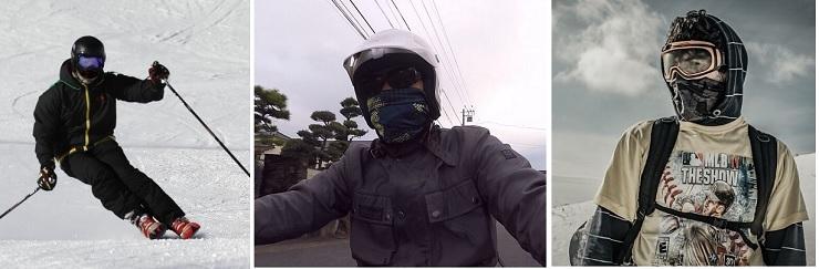 バイク、スキー、スノボで使える防寒フェイスマスクの紹介