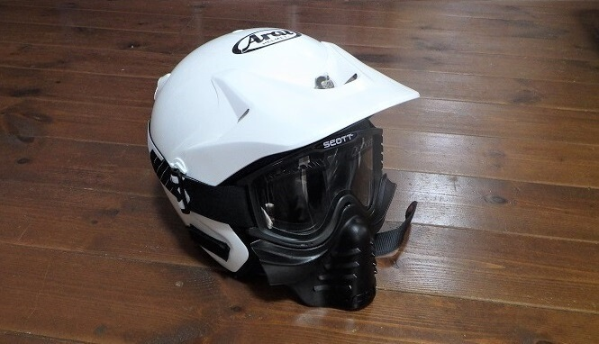 バイクにも使えるフェイスマスク付きゴーグル