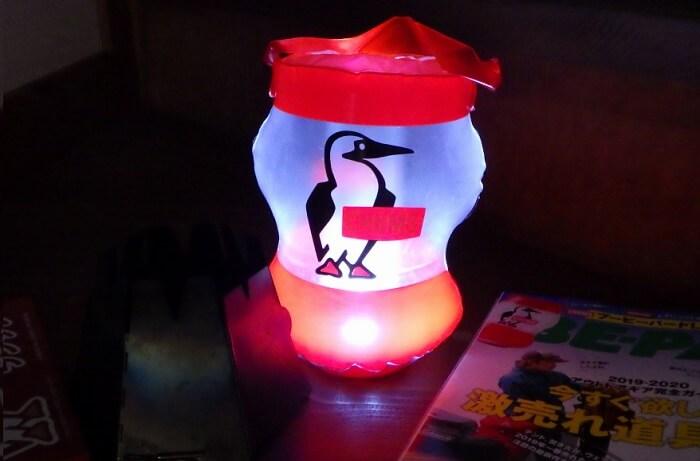 BE-PAL付録LEDランタン 点灯
