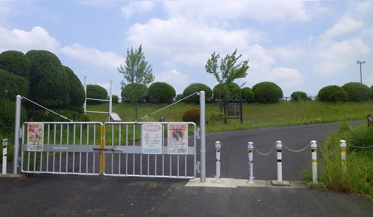 愛知池のゲート