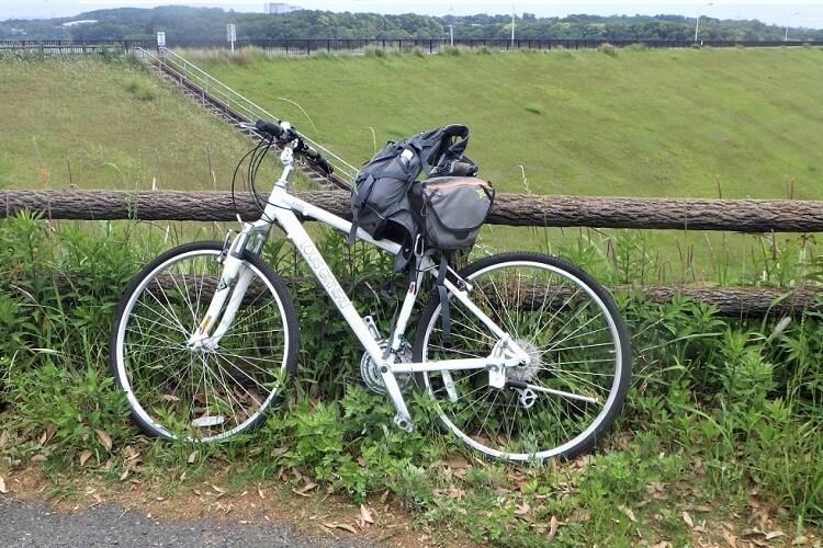 愛知池で自転車サイクリング
