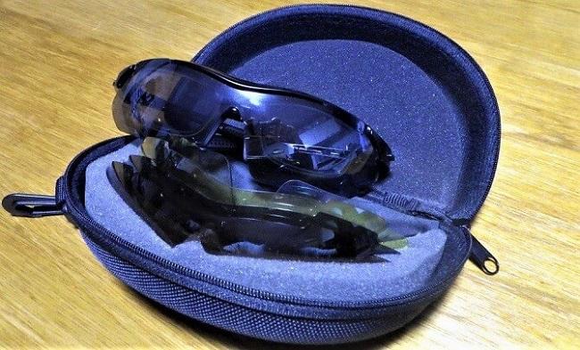 インナーフレーム付き度付き対応偏光スポーツサングラス