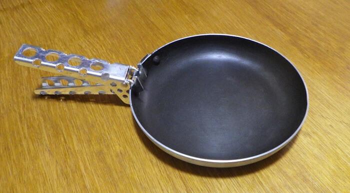 ニトリの親子鍋を改造して山フライパンに