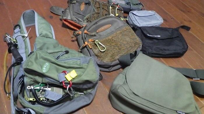 フライフィッシングで使うバッグ・パック類