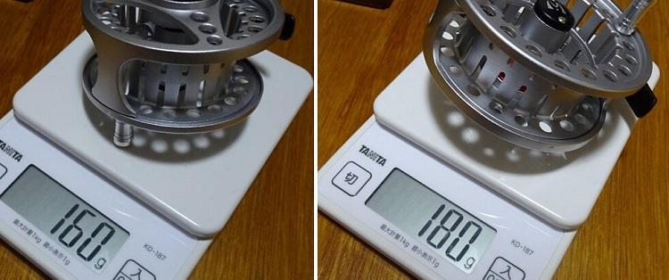 Maxcatchのフライリールの重量