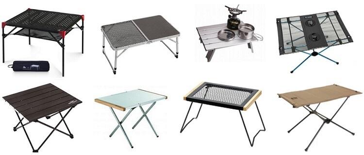 キャンプツーリングに適したテーブル一覧