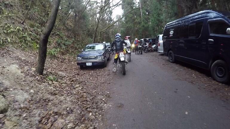 広見林道に集まるバイカー
