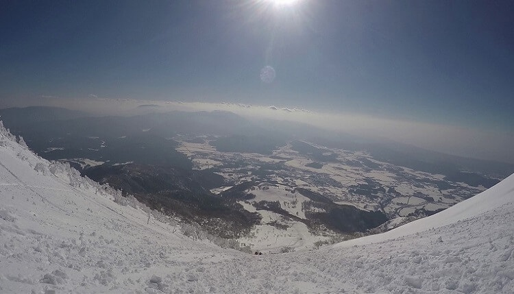 伊吹山 8合目付近の急傾斜