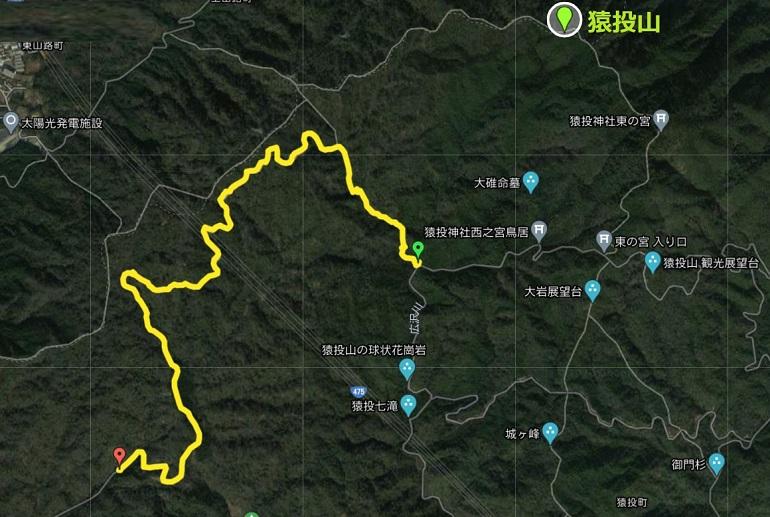 広見林道の地図・マップ