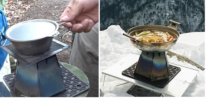 アルコールストーブで作る登山飯