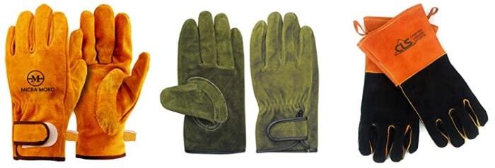キャンプ用革手袋
