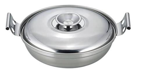 登山飯で使用するステンレス鍋一人用
