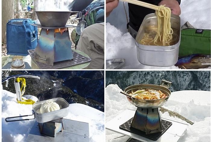 アルコールストーブで簡単料理【登山飯】