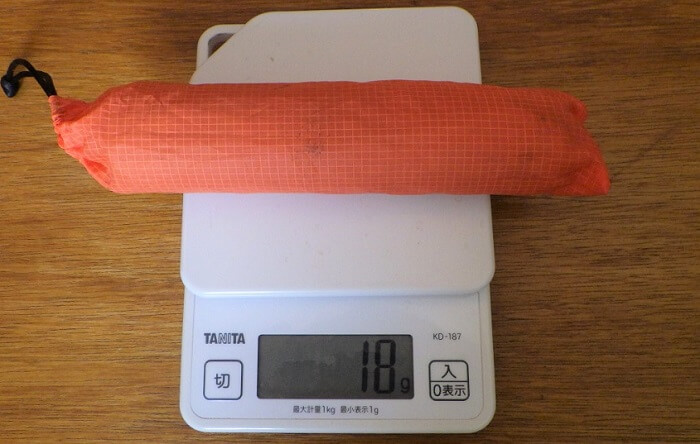 チタン風防の重量 実測18g