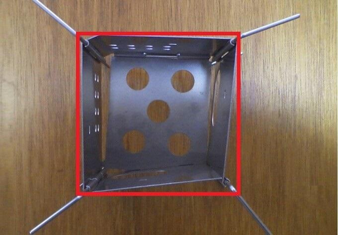 ファイヤーボックス ナノは正方形ではない