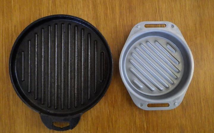 ダイソー100スキ(旧モデル)vs 肉厚グリルパン