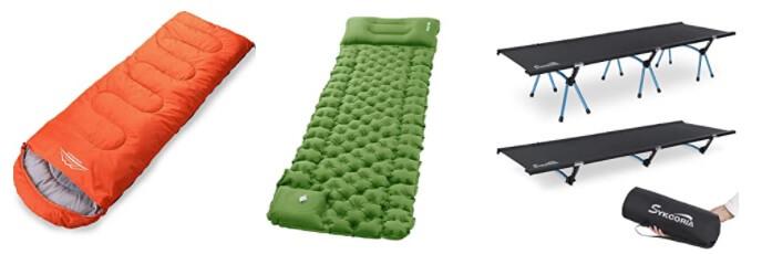 キャンプ用寝具の売れ筋ランキング