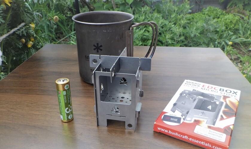 コンパクトな焚き火台BushBoxマイクロ ストーブ EDC BOXの評判