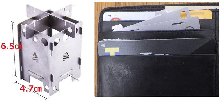 BushBoxマイクロ ストーブ EDC BOXのサイズ感