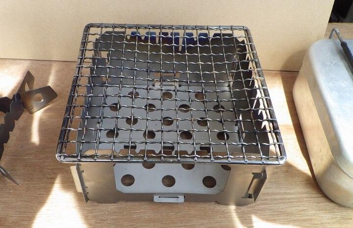デルタストーブの良い点 テトラロストルと組み合わせて炭火グリルとして利用