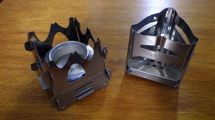ソトのテトラストーブとビーパルのミニ焚き火台