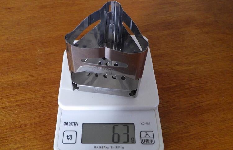 ビーパル ミニ焚き火台の重量