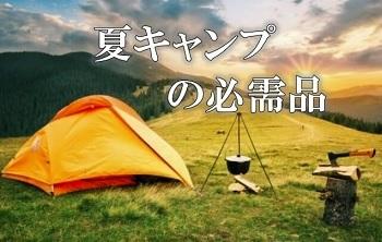 夏のキャンプの必需品