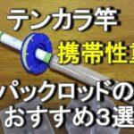 テンカラ竿 仕舞寸法の短いパックロッド おすすめ3選【渓流竿】
