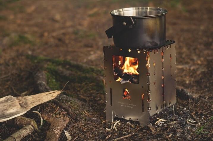 ブッシュボックスの焚き火台